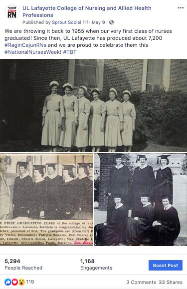 National Nursing Week throw back Thursday post