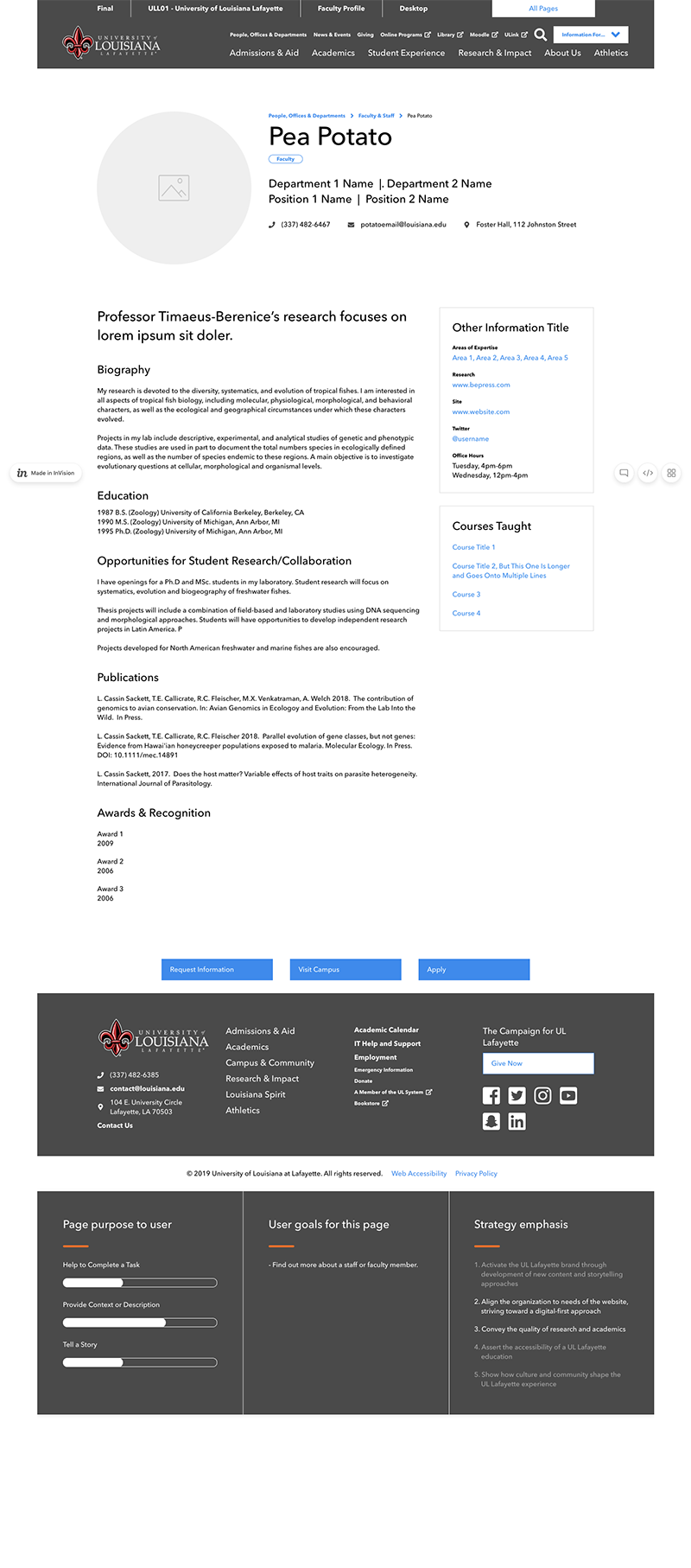 Wireframes Faculty Profile Png Web Ambassadors Network